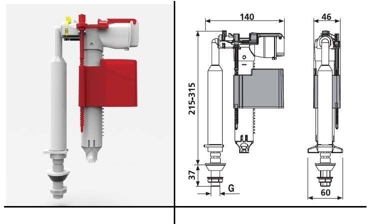 Universal Valve for Toilets